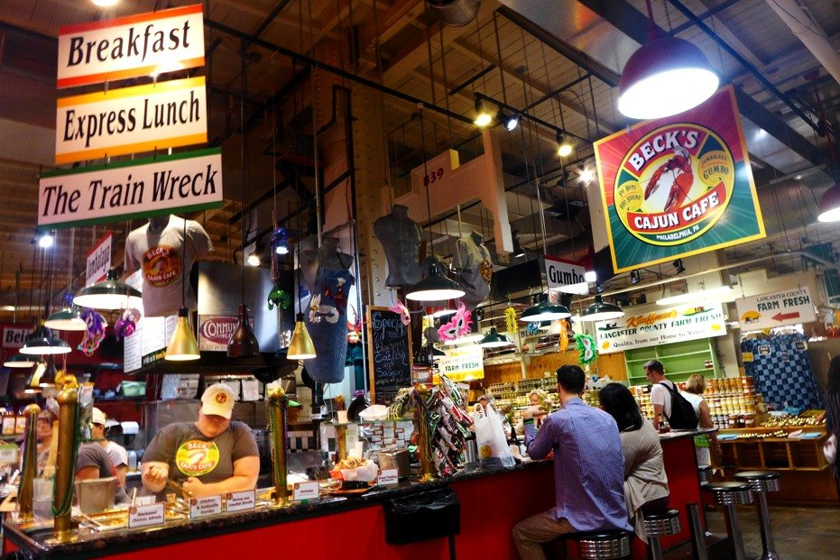 Beck's Cajun Cafe, Reading Terminal Market, Philadelphia